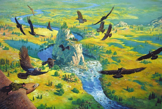 Eagles to the Carrock - Ted Nasmith