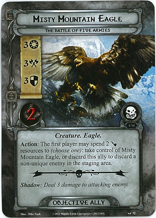 Misty Mountain Eagle Card