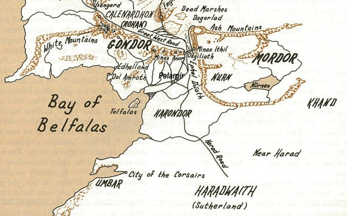 Map of Gondor and Neighbors