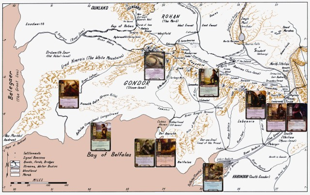 Fonstad Gondor Map with Outlanders