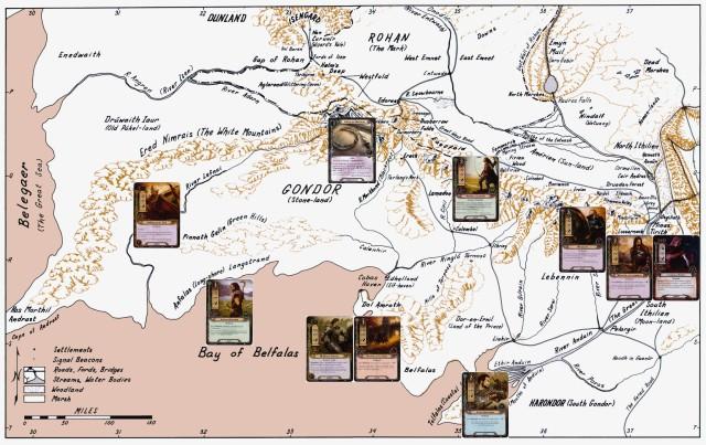 Fonstad Gondor Map with Outlanders