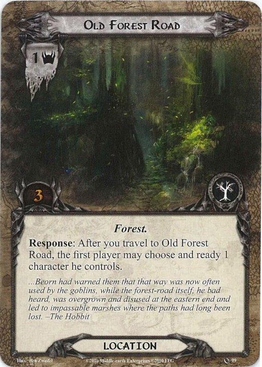 Old Forest Road Card
