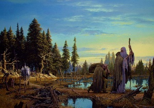 Saruman is Overtaken by Ted Nasmith