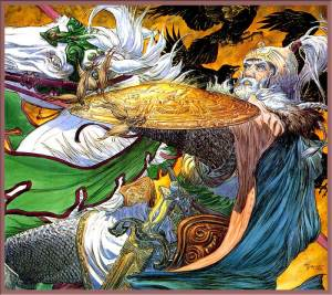 Théoden Espies the Serpent Banner by Michael Kaluta