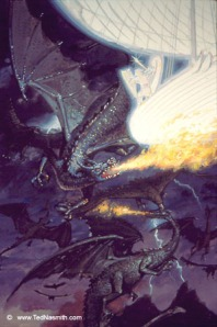 Earendil and the Battle of Eagles and Dragons by Ted Nasmith