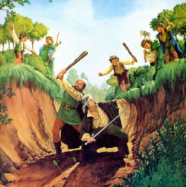 """Scouring of the Shire"" by Greg and Tim Hildebrandt"