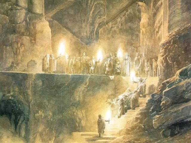 """Thorin's Funeral"" by Alan Lee"