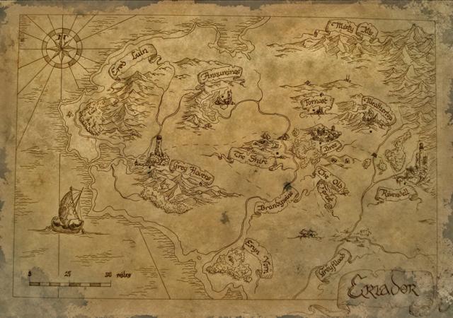Bilbos Map by Bartosz