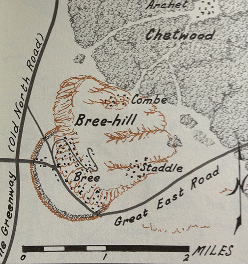 Bree-lands from The Atlas of Middle-earth