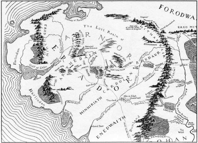 Your best go-to map of Eriador, made by Christopher Tolkien. This is your handy guide to the article ahead!