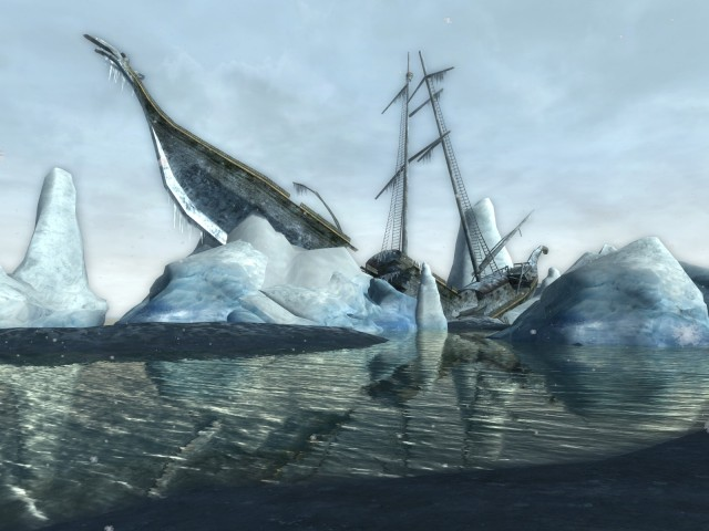 The shipwreck of Arvedui in Forochel from Lord of the Rings Online