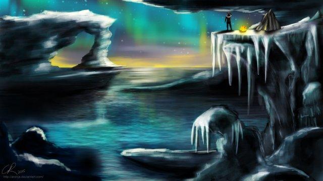 The Icebay of Forochel by Aronja