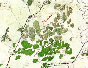 Map of the Trollshaws from MERP