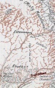 Ettenmoors, Coldfells, Rhudaur from the Atlas of Middle-earth