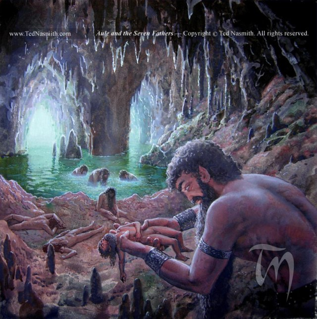 """Aulë and the Seven Fathers"" by Ted Nasmith"