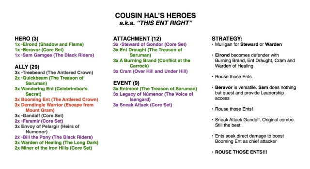 Cousin Hal's Heroes Deck Screenshot