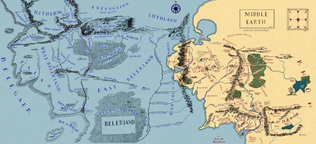 Beleriand Reshaped Map