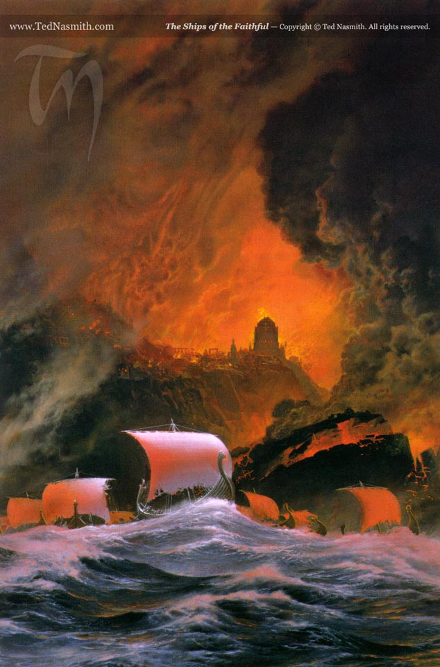 The Ships of the Faithful, by Ted Nasmith