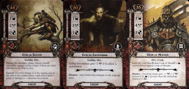 Orcs Goblins Uruks LOTR LCG